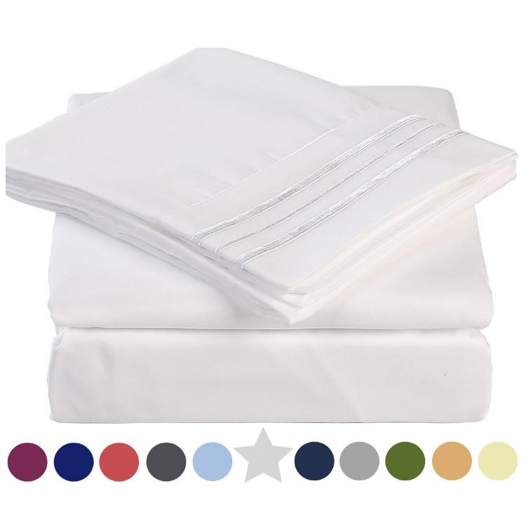 1500 1800 2100 Series Hot Selling Microfiber Bed Sheets Sets