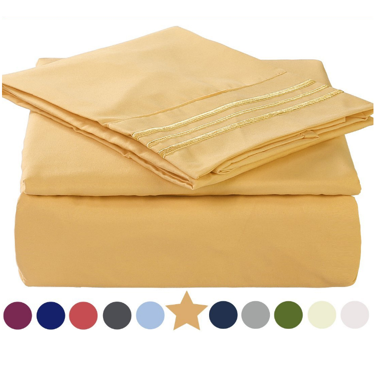 Low Cost Bed Sheets Online On Sale , Color Dyed Microfiber Bedding