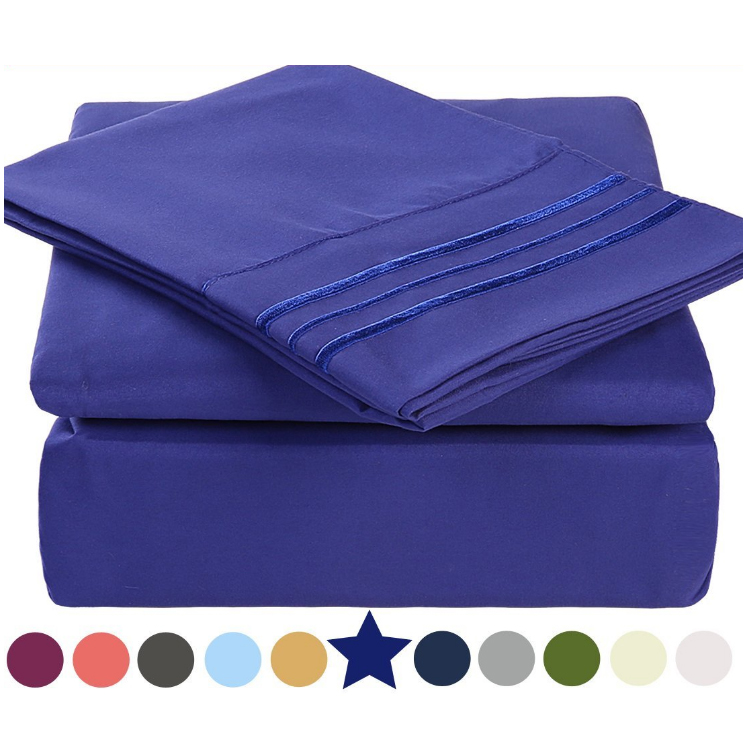 Buy Cheap Bedroom Sheets Online , Luxury Embroidery Microfiber Bed Linen