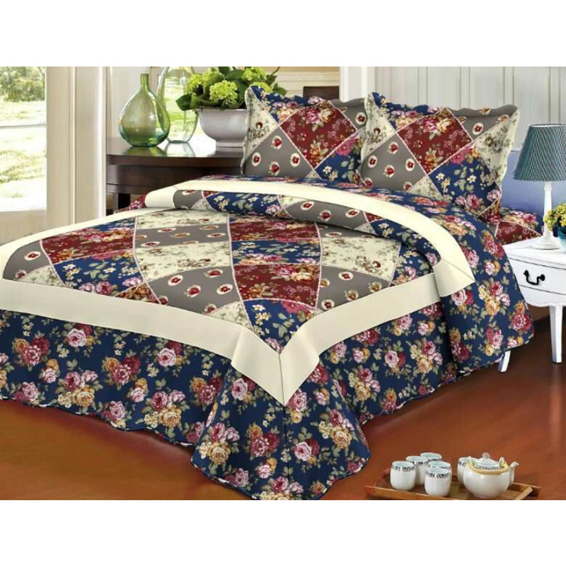 quilted bedspread set, coverlete set , quilted bedcover