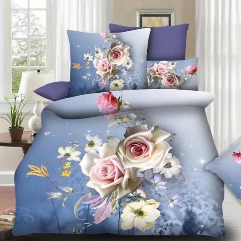 3D Bed Sheet Supplier ,Cheap Bed in A Bag Set From China