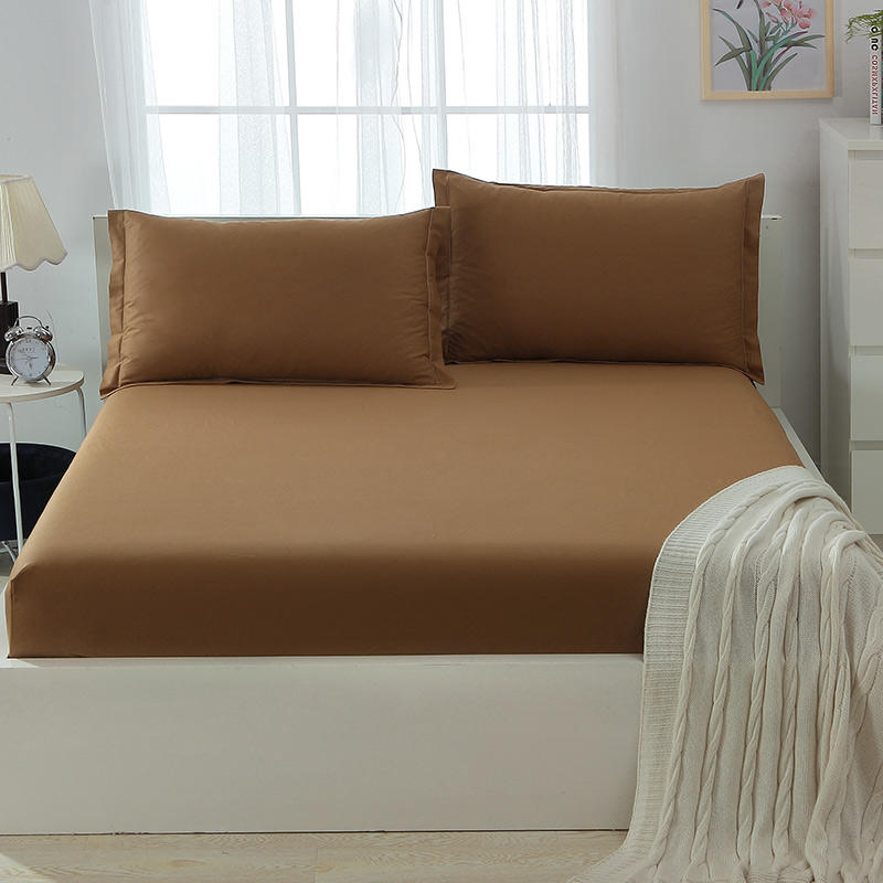 Cotton Bed Sheets Buy Online , Coffee Color 200 TC Bedding Sheets Sets