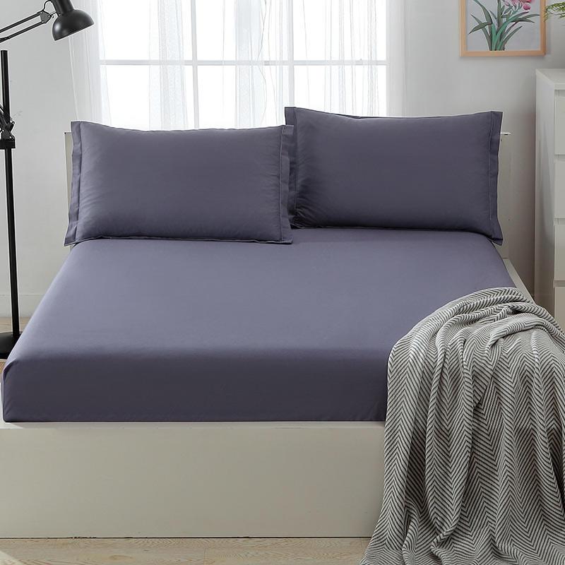 Cheap Cotton Sheets Sets , Light Purple Color 200 Thread Count