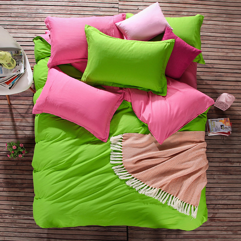Lime and Purple Color Home Bedding Bedlinen