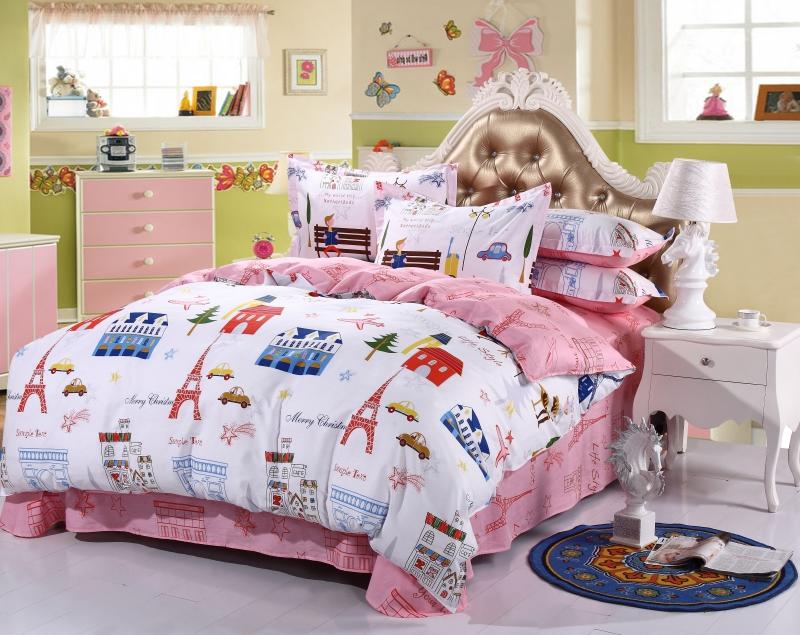 Cotton Duvet CoversDouble, Cute Printed Pattern Bed Cover