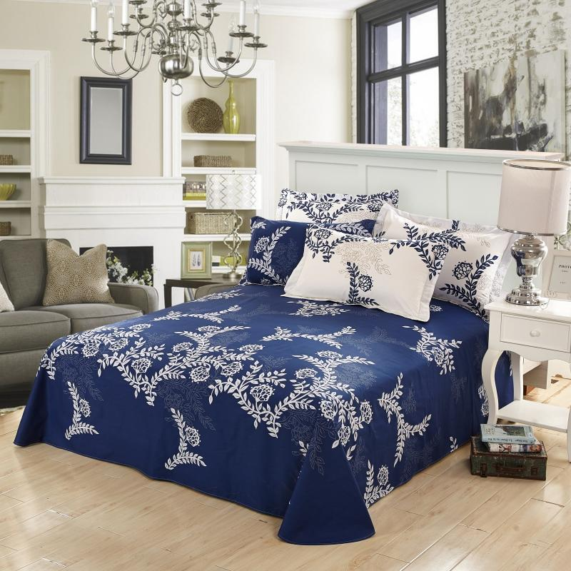 Pattern Cotton Flat Sheet Set On Sale