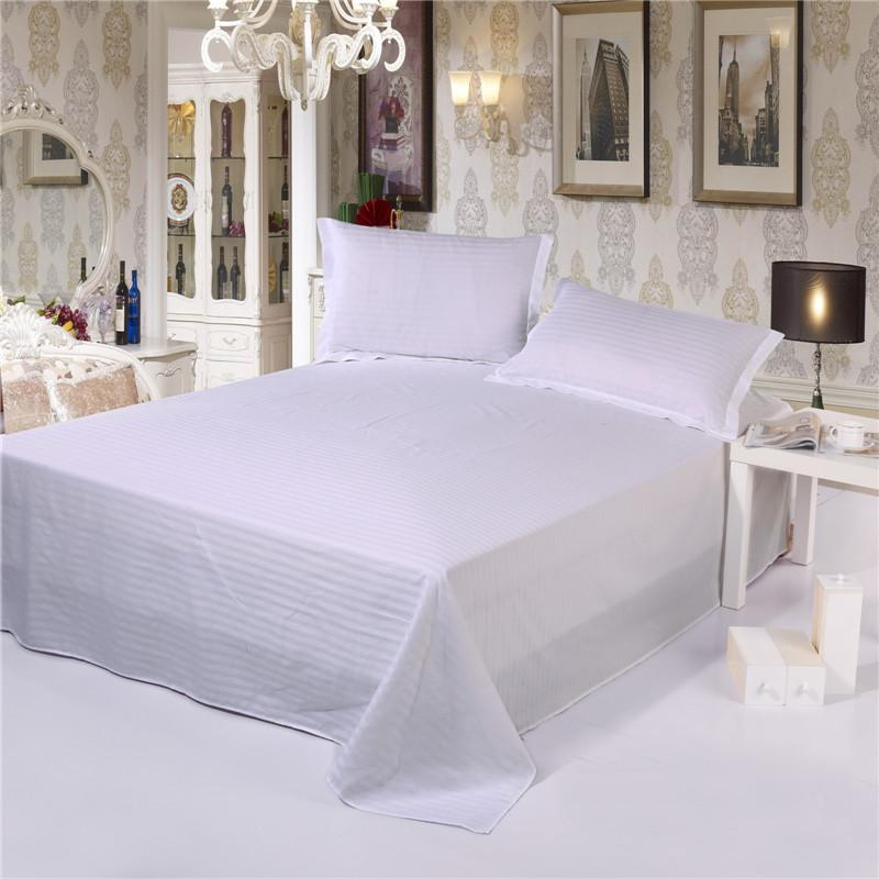 White Stripe Bed Sheets ,Cotton Bedding Set